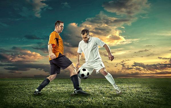 サッカー攻防